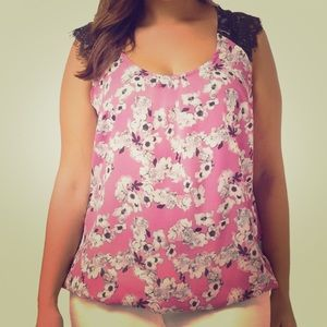 City Chic Floral Print Top